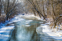 SNOWY WINTER STREAM