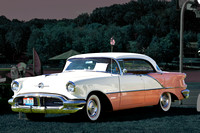 1956 Oldsmobile Super 88 Holiday, Coral & White
